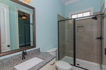 Circle H Builders Columbia SC granite bathroom.