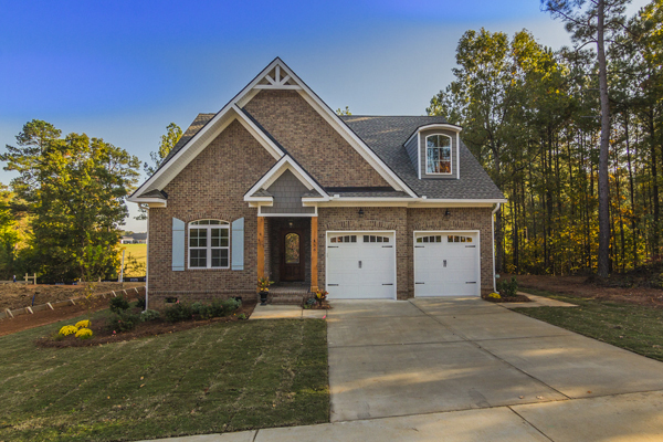 Custom brick home in Cobblestone Park